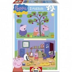 PUZZLE 2X48 PCS PEPPA PIG