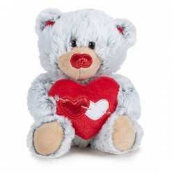 Peluche Oso I Love You Gris...