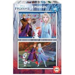 PUZZLE 2×48 FROZEN II