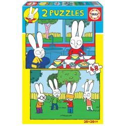 SIMON PUZZLE 2X48 PIEZAS
