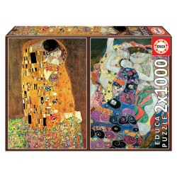 PUZZLE 2×1000 EL BESO + LA...