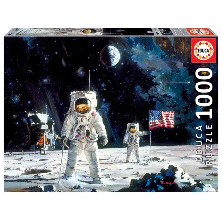 PUZZLE 1000 FIRST MEN ON THE MOON, ROBERT MCCALL