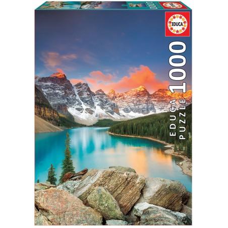 PUZZLE 1000 LAGO MORAINE, BANFF NATIONAL PARK, CANADÁ