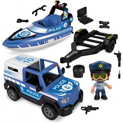 Pinypon Action. Pickup de Policía con Lancha